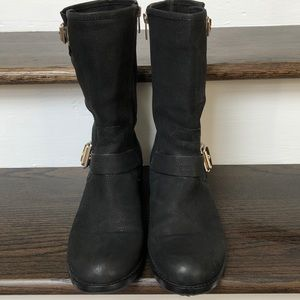 Vince Camuto Shoes - Vince Camuto Windy Moto Motorcycle Black Boots 10M